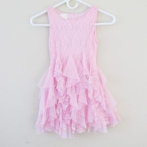 Biscotti   Girl's 7 Pink Lace Tulle Formal Dress